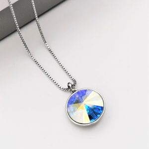 Crystal Necklace Embellished With AB Colour Crystal From Swarovski
