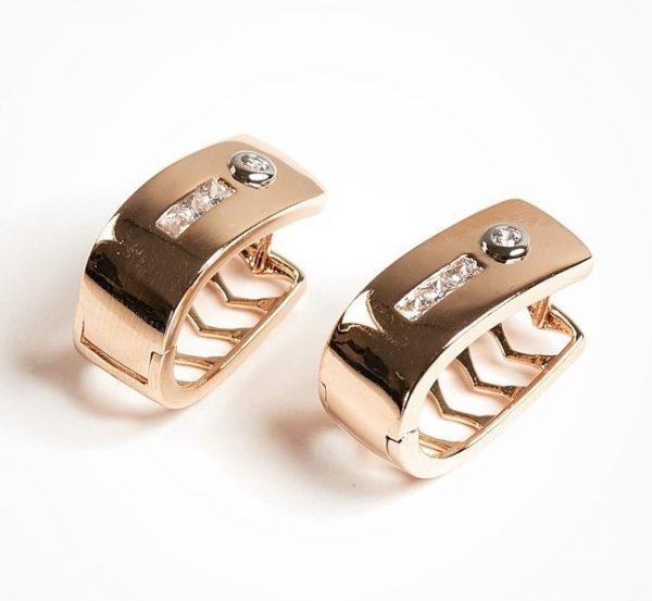 Callel Gold Color Huggie Earrings