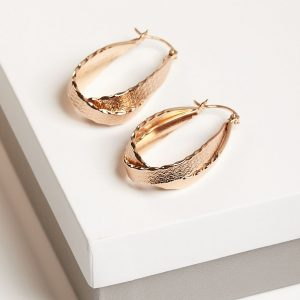Gold Double Twisted Creole Earrings