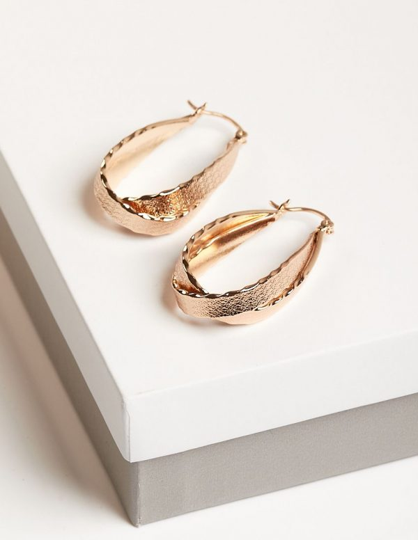Callel 18K Gold Color Double Creole Earrings