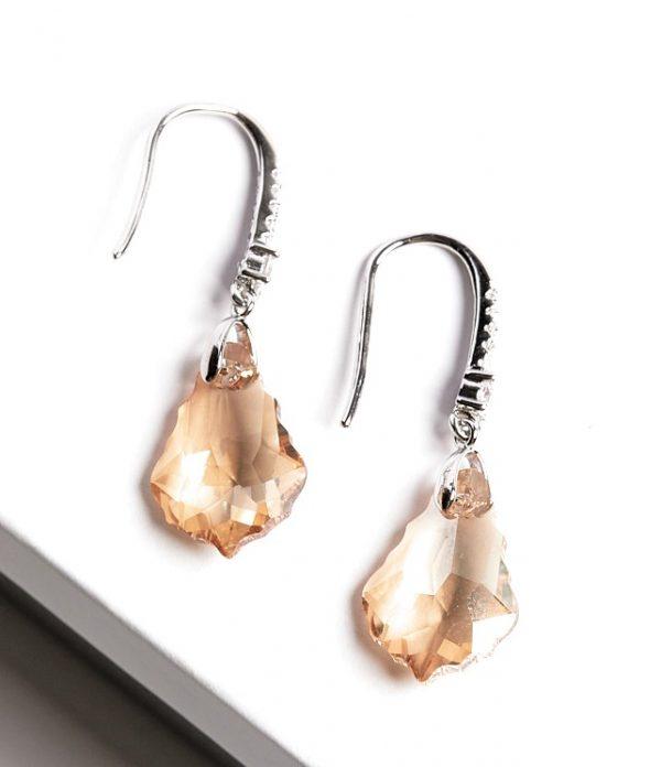 Callel Hook Earrings Embellished with Crystal from Swarovski