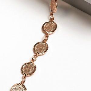 Copper Rose Gold Plated Coin Bracelet