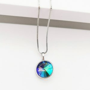 Crystal Necklace Embellished With Multi-Colour Crystal From Swarovski