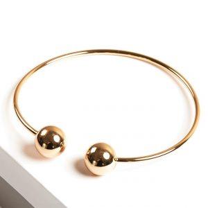Gold Torque Bangle Bracelet