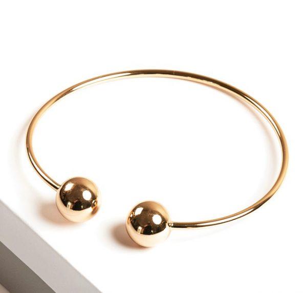 Callel 24K Gold Color Torque Bangle Bracelet