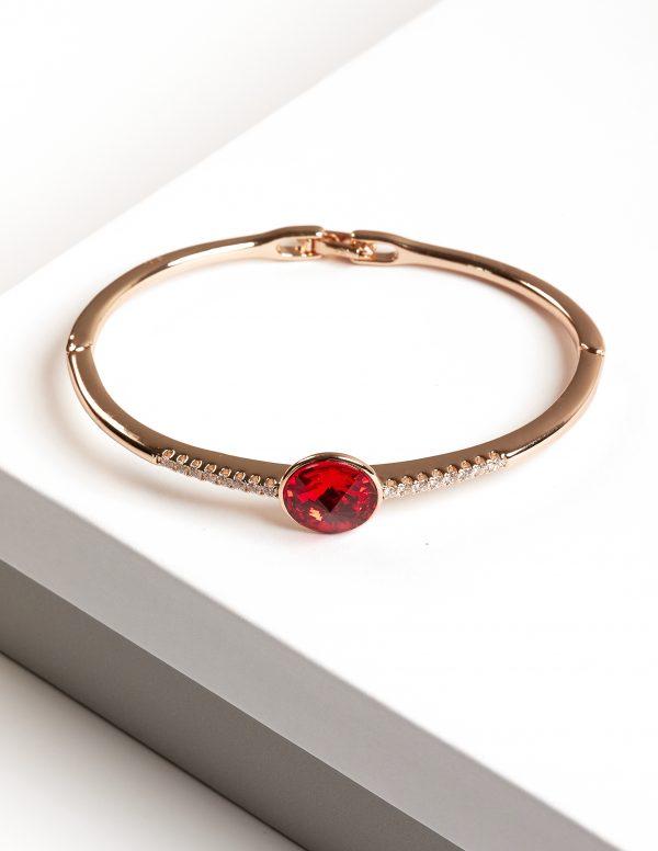 Callel 18K Gold Bangle Bracelet Embellished with Crystal from Swarovski