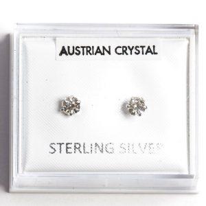 925 Sterling Silver & White Zirconia Stud Earrings