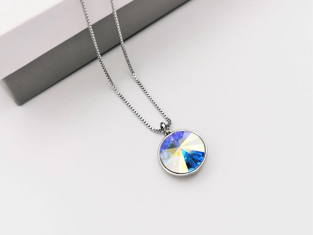 Callel Crystal Necklace Embellished With AB Crystal From Swarovski