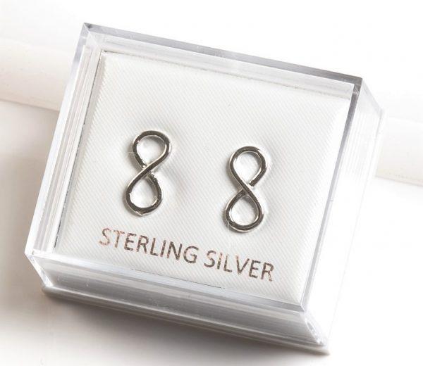 Callel 925 Sterling Silver Classic Infinity Stud Earrings