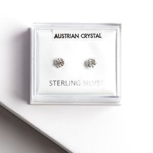 925 Sterling Silver & White Zirconia Stud Earrings