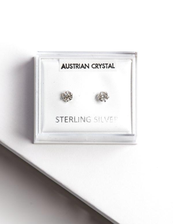 Callel 925 Sterling Silver & White Zirconia Stud Earrings