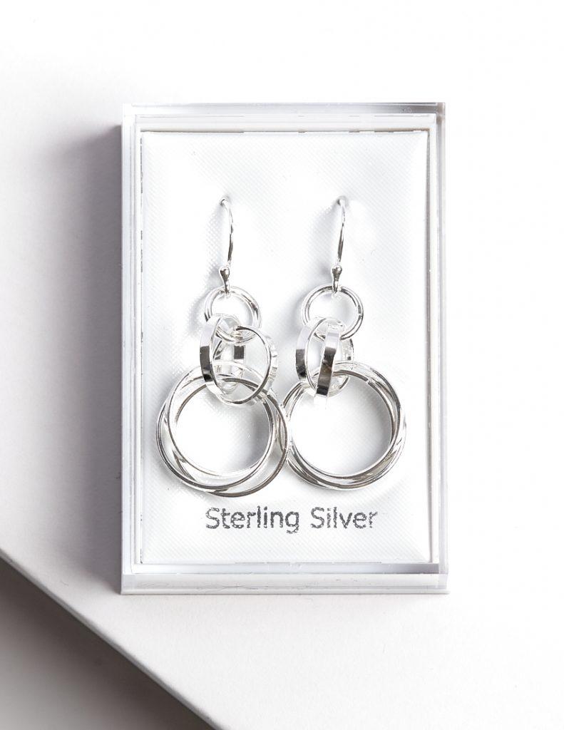 Callel 925 Sterling Silver Circle Long Hook Earrings