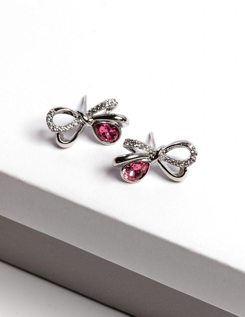 Callel Bow Stud Earrings Embellished