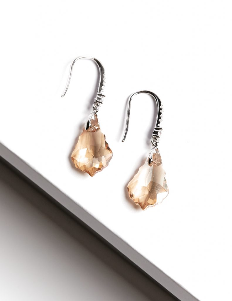 Callel Hook Earrings Embellished with Crystal from Swarovski