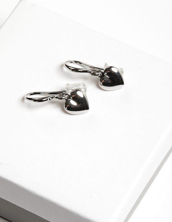 Callel Silver Heart Hook Earrings
