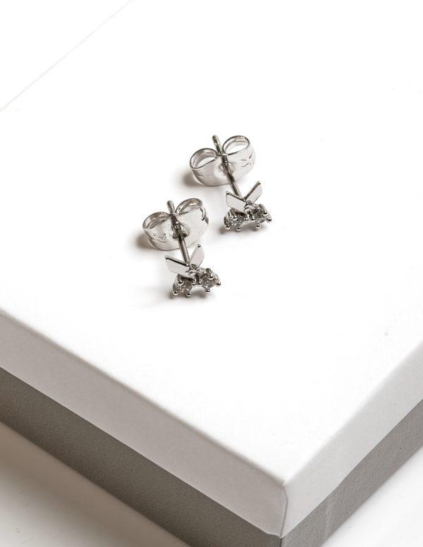 Callel Silver Scissor Stud Earrings