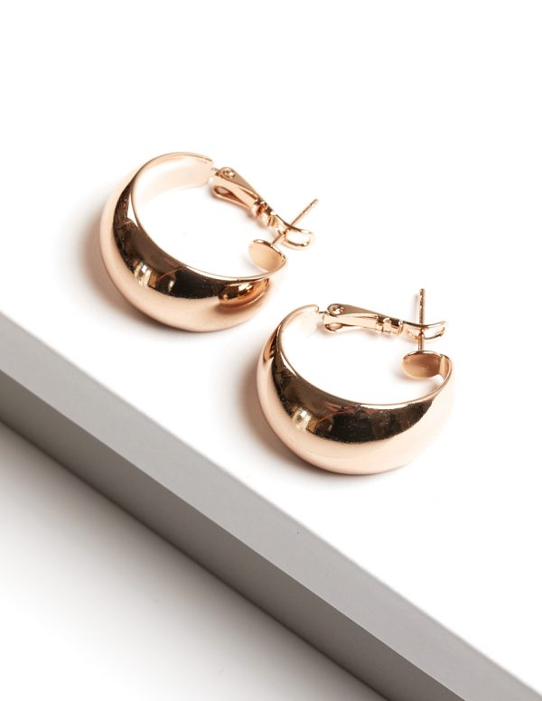 Callel 18K Gold Color Hoop Earrings