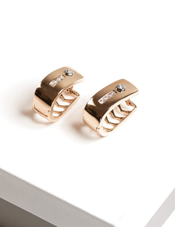 Callel 18K Gold Color Huggie Earrings