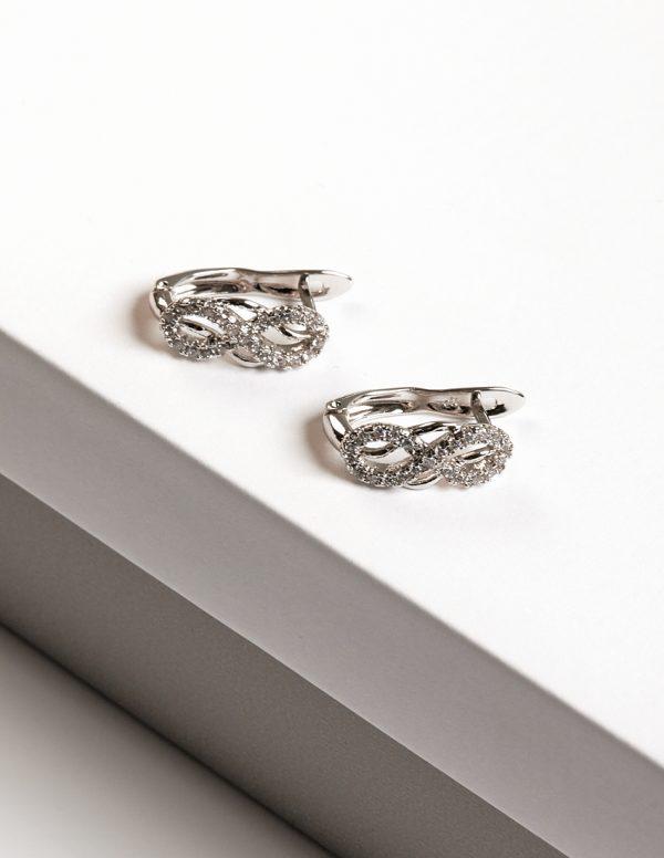 Callel Silver Cubic Zirconia Infinity Earrings
