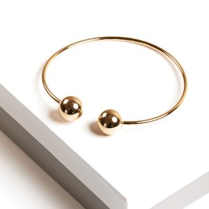 Callel 24K Gold Color Torque Bangle Bracelet