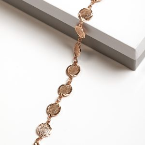 18K Gold Multi Coin Bracelet