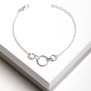 925 Sterling Silver Circles Chain Bracelet