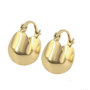 Basket Style Creole Earrings