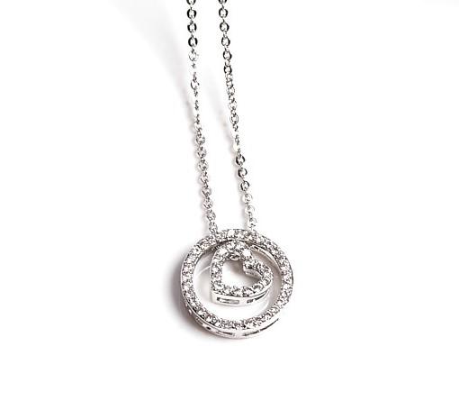 Callel Heart Circle Pendant Necklace