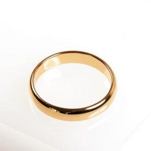 Yellow Gold Plain Band Ring