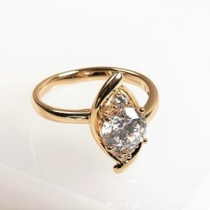Cubic Zirconia Marquise Cut Ring