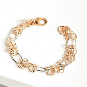 Rose Gold & Silver Heavy Chain Bracelet