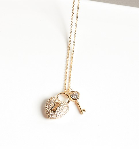 Callel Gold Color Heart Locket Pendant Necklace