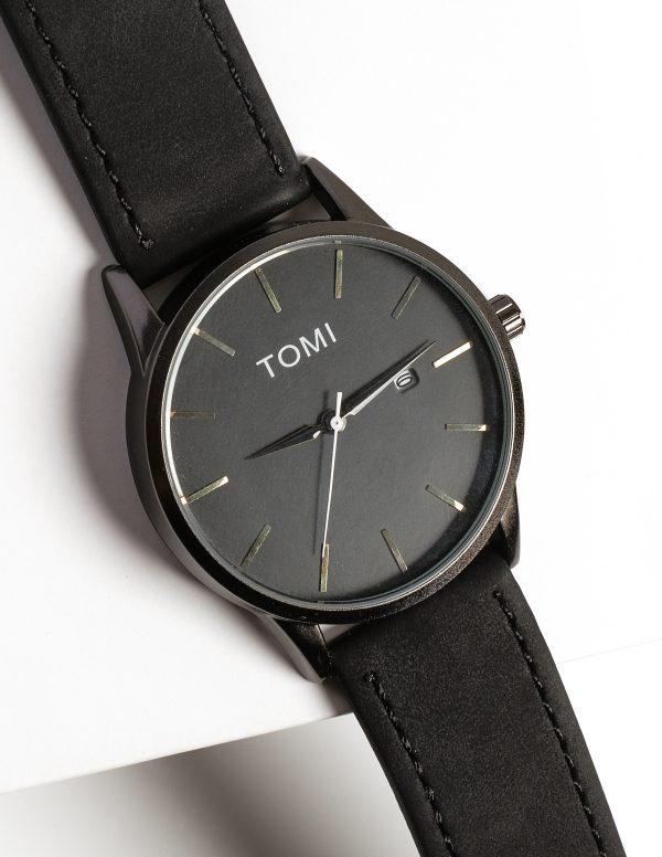 Callel Tomi Black Mens Watch