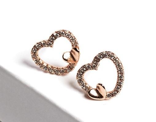 Callel Gold Heart Stud Earrings