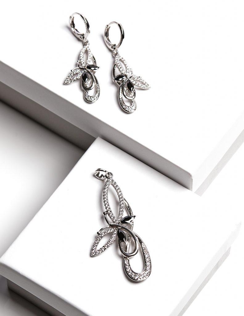 Callel Butterfly Earrings And Pendant Set