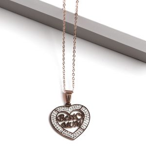 Rose Gold Best Mum Pendant Necklace