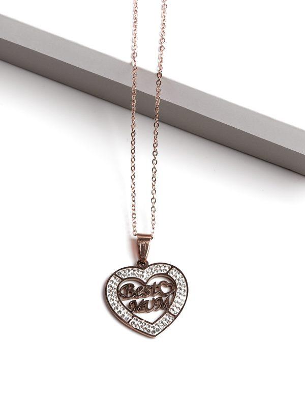 Callel Rose Gold Best Mum Pendant Necklace