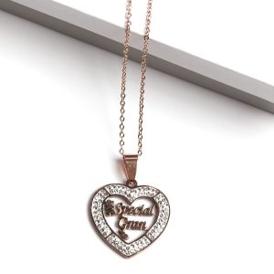 Callel Rose Gold Special Grandma Pendant Necklace