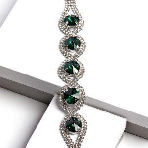 Green Oval Cubic Zirconia Bracelet