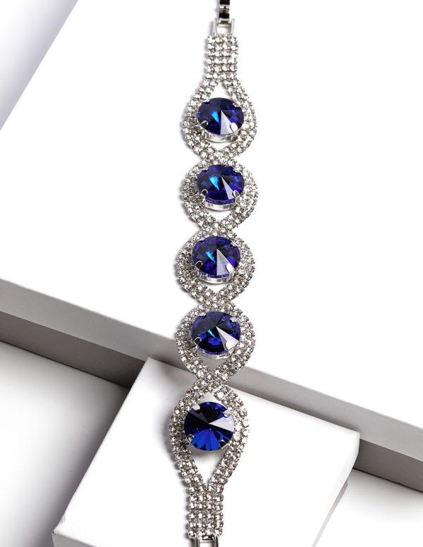 Callel Royal Blue Oval Cz Bracelet