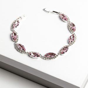 Pink Cubic Zirconia Crystal Bracelet