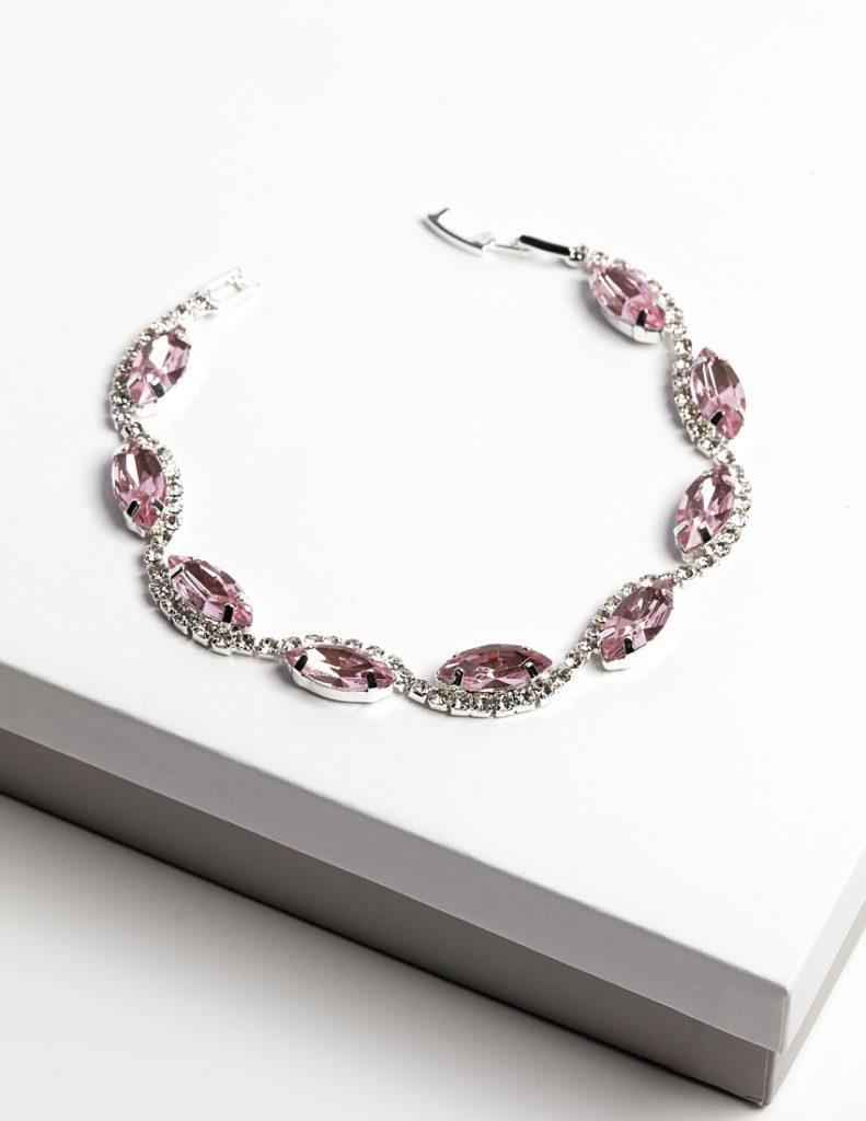 Callel Pink Cz Crystal Bracelet