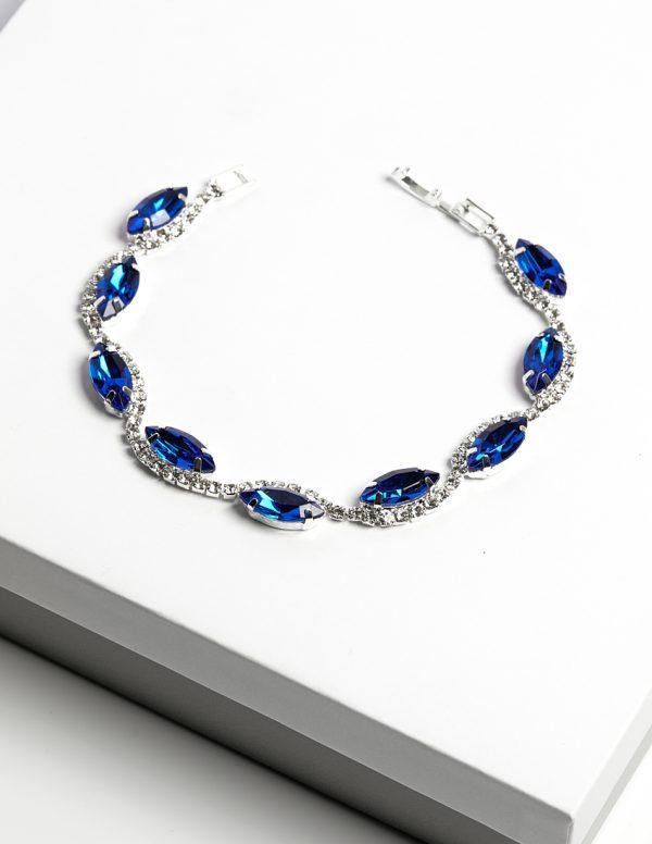 Callel Blue Cz Crystal Bracelet