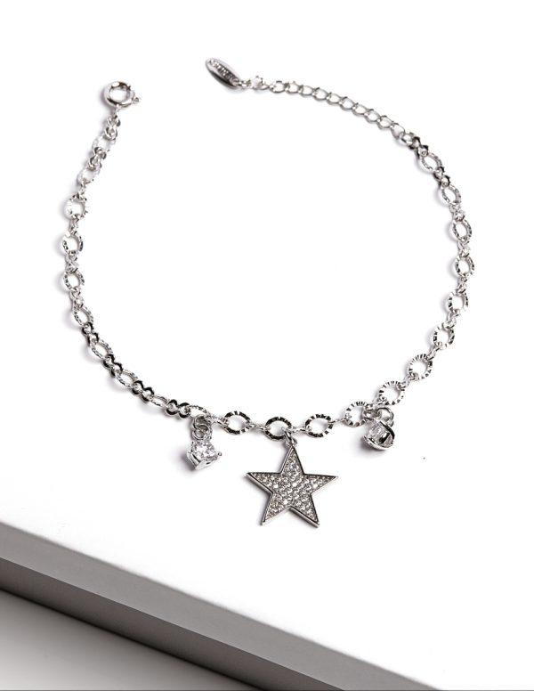 Callel Silver Star Charm Bracelet