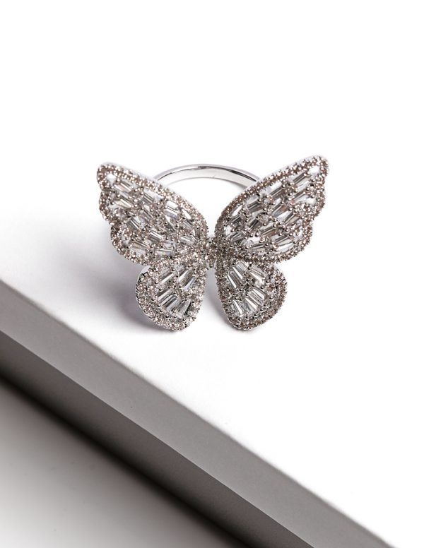 Callel Luxury Silver Butterfly Ring