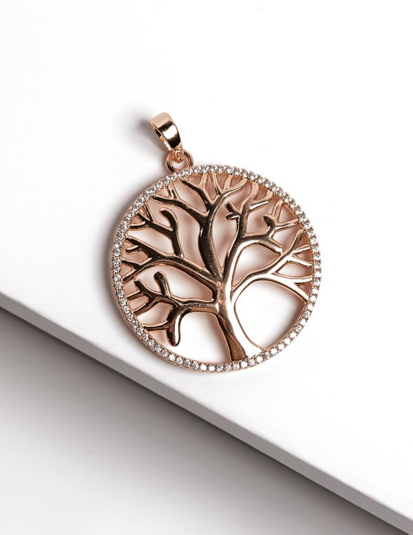 Callel 18K Gold Tree Of Life Earrings and Pendant Set