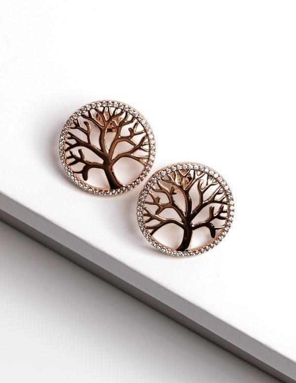 18ct Gold Tree of Life Stud Earrings