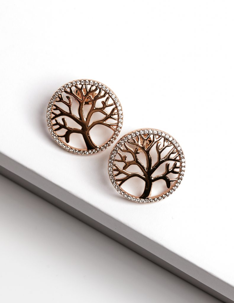 18ct Gold Tree of Life Stud Earrings
