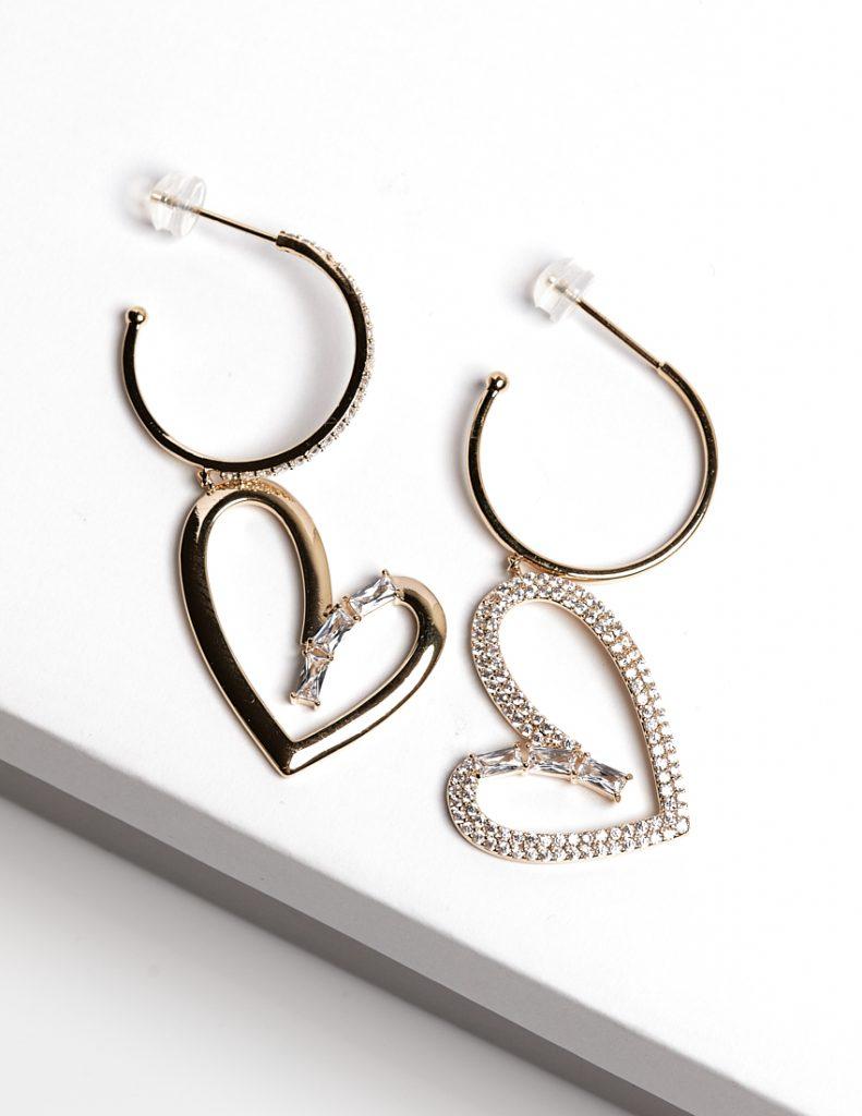 Callel 14K Gold Color Love Heart Earrings