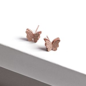 Callel Rose Gold Butterfly Earrings